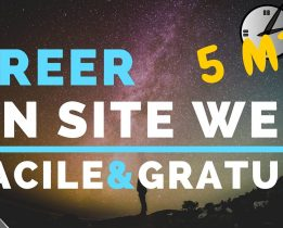 Comment créer un site ?